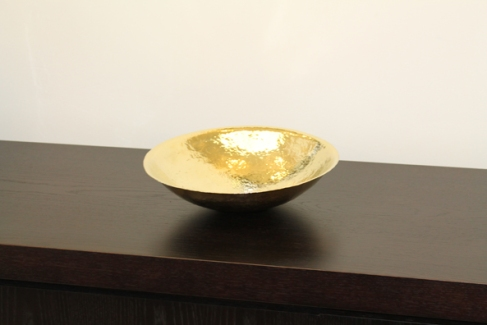 The Cymbal Bowl, hand crafted from a drum cymbal, by Benjamin Black Goldsmiths