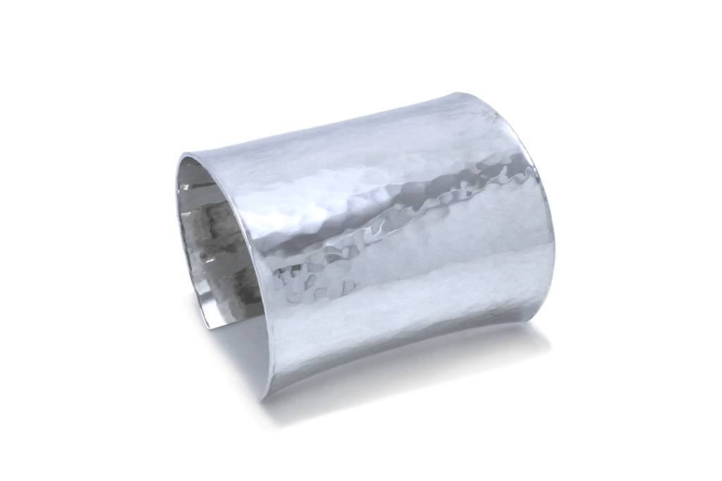 The Statement Cuff in Sterling Silver, by Benjamin Black Goldsmiths