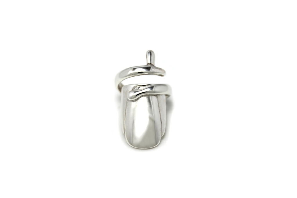 Finger Nail Ring in Sterling Silver by Benjamin Black Goldsmiths