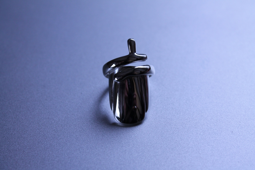 Fingernail Feature in Sterling Silver by Benjamin Black Goldsmiths