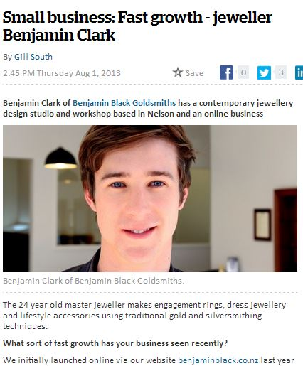 NZ Herald, Benjamin Black Goldsmiths