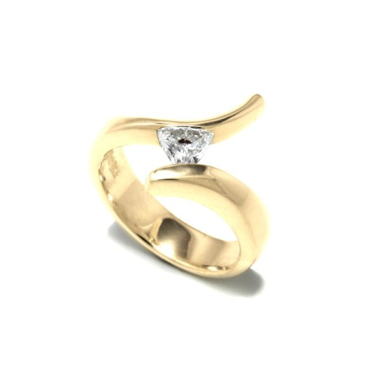The Cirrus Ring in Yellow Gold by Benjamin Black Goldsmiths