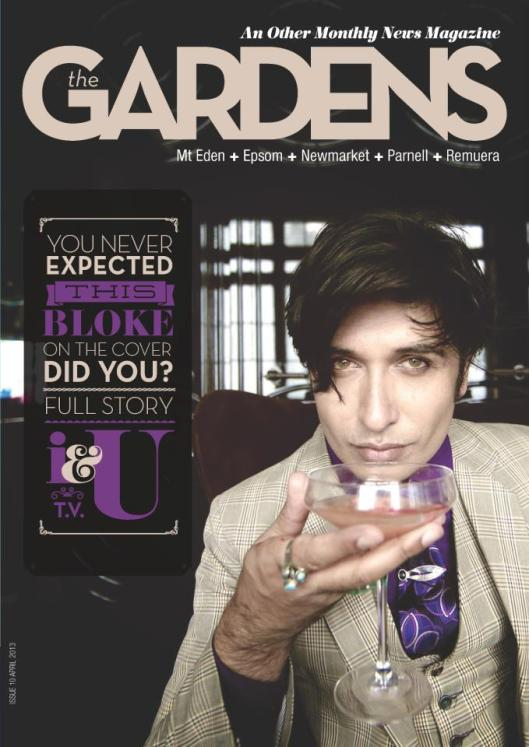 Colin Mathura Jeffree on the cover of The Gardens Magazine - Benjamin Black Goldsmiths