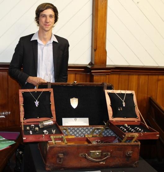 Jewellery Display Suitcase by Benjamin Black Goldsmiths