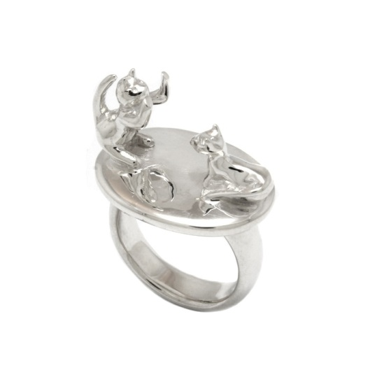 Cat Ring by Benjamin Black Goldsmiths