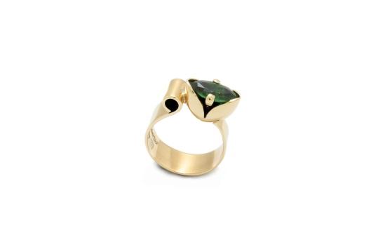 Gold Tulip Ring by Benjamin Black Goldsmiths