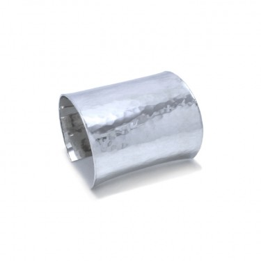 The Statement Cuff in Sterling Silver by Benjamin Black Goldsmiths