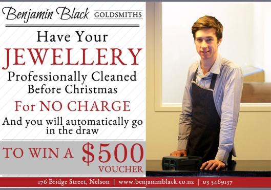 Benjamin Black Goldsmiths, Free Jewellery Clean