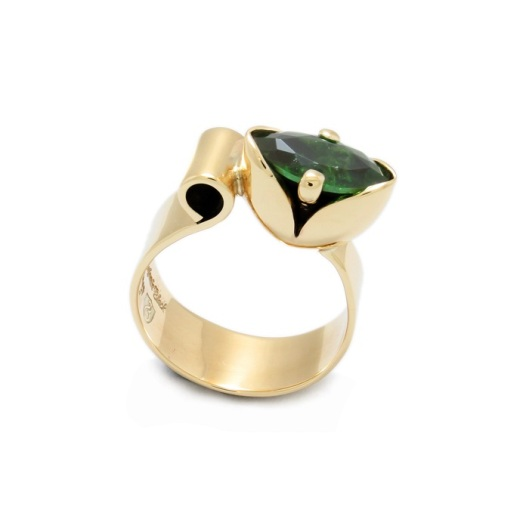 Gold Tulip Ring by Benjamin Black Goldsmiths