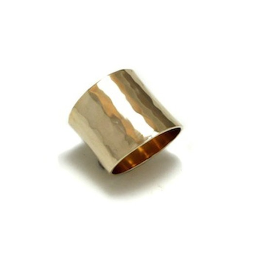 The Statement Ring in Yellow Gold by Benjamin Black Goldsmiths