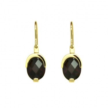 Garnet Drop Earrings by Benjamin Black Goldsmiths