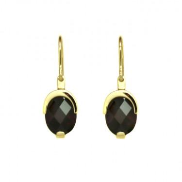 Garnet Drop Earrings by Benjamin Black Goldsmiths