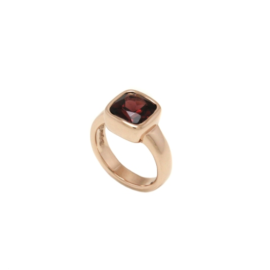 Garnet Engagement Ring by Benjamin Black Goldsmiths