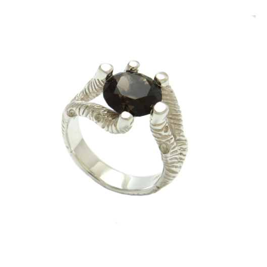 Branches Smokey Quartz Ring, Designed by Joel Whitwell