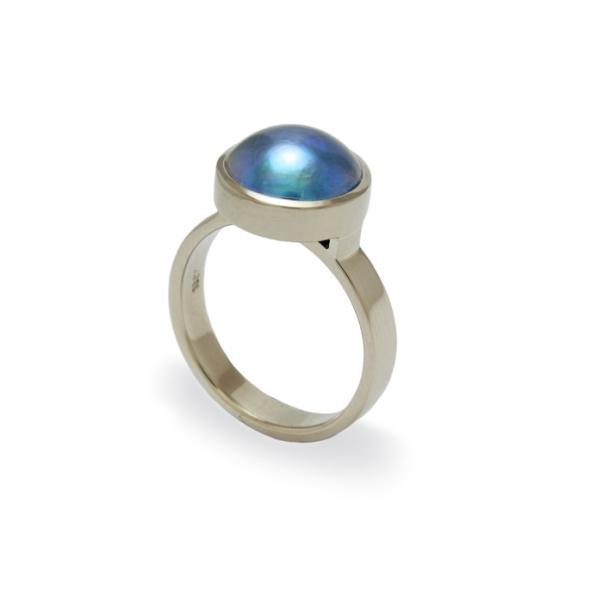 Paua Pearl Ring by Benjamin Black Goldsmiths